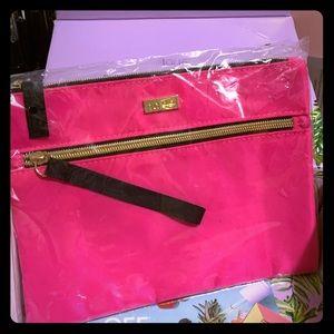 Pink tarte zippered makeup bag, BNIB